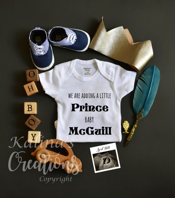 Personalized Baby Boy Gender Reveal - Custom reserved