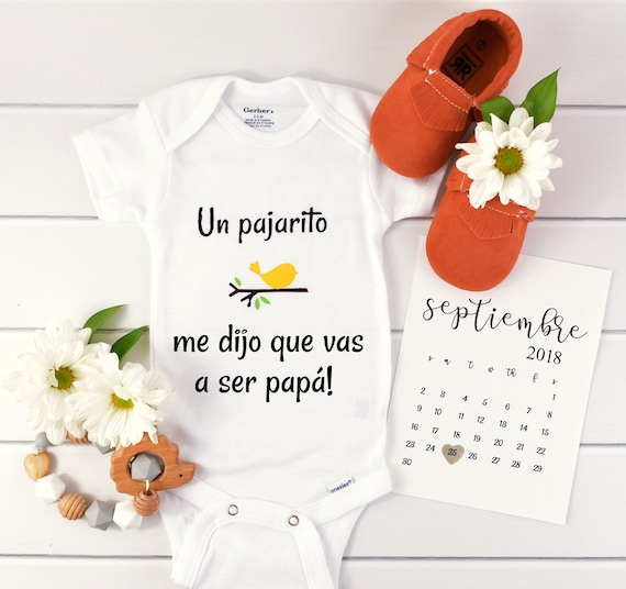 Spanish Pregnancy announcement to dad