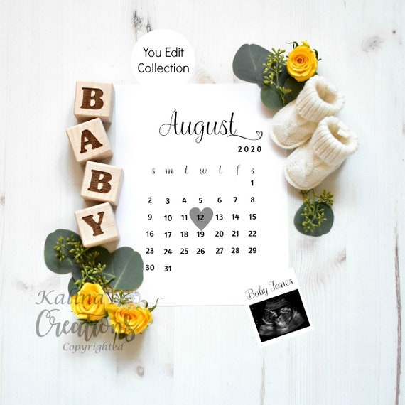 Pregnancy Announcement Template for Social Media