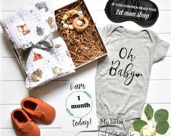 Mothers Day Gift For A New Mom - Baby Shower Gift Set for Baby And Mom - Gift for New Mom