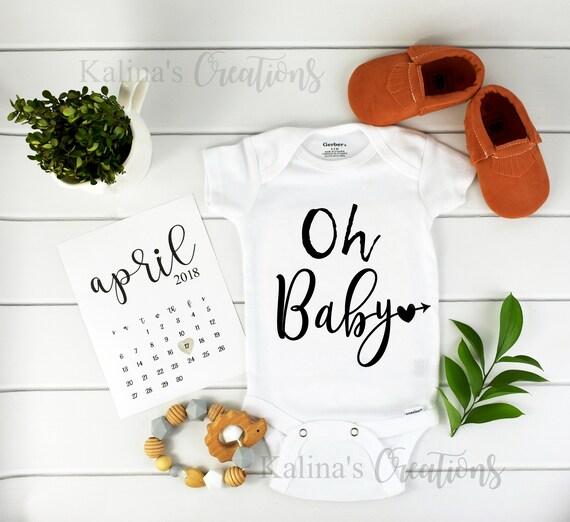 Oh Baby Onesie / Baby Announcement / Bodysuit / Pregnancy Reveal