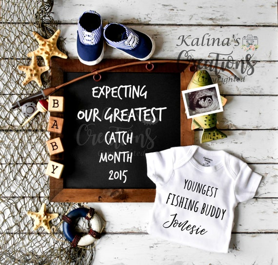 Fishing Buddy Pregnancy Announcement for social media