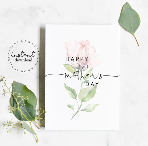 Mother's Day Card Pregnancy Announcement- You Print