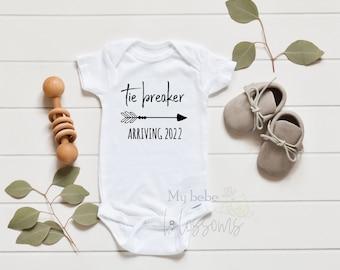 Tie Breaker Onesie Baby Announcement