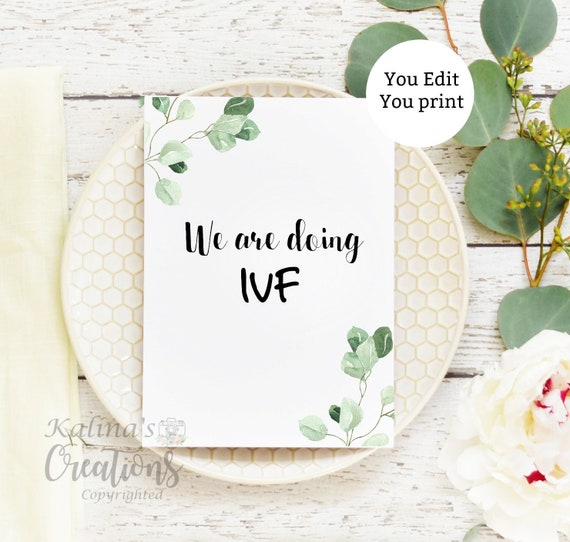 IVF Pregnancy Announcement Reveal Printable Card