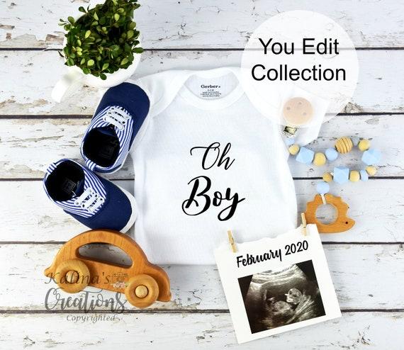 Baby Boy Gender Reveal for Social Media
