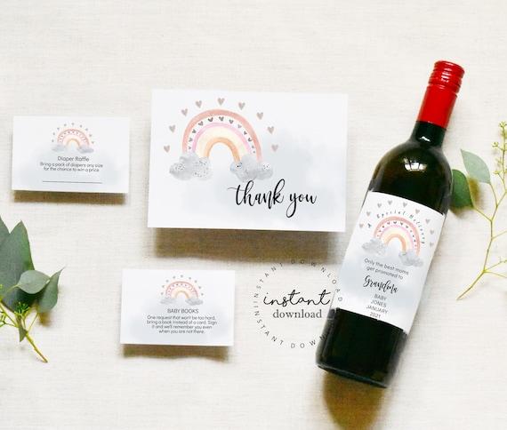 Wine Label Pregnancy Announcement, KC38