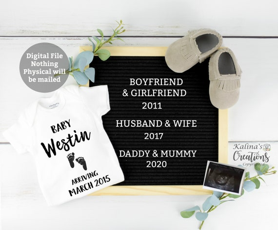 Personalized Baby Announcement for Social Media
