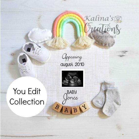 Rainbow Baby Announcement for Social Media