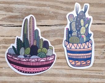 Cactus stickers, cacti sticker ,plant stickers, cactus magnet