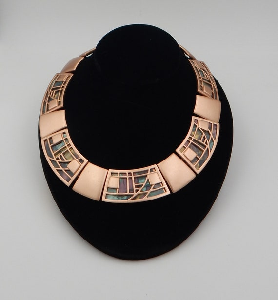 MONET Stained Glass Collar Necklace