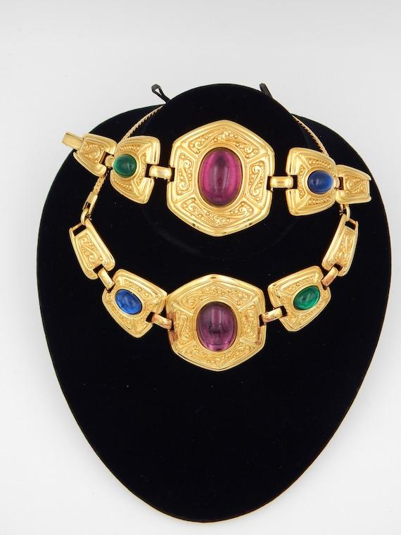 NAPIER Byzantium Cabochon Necklace Bracelet - Jewe