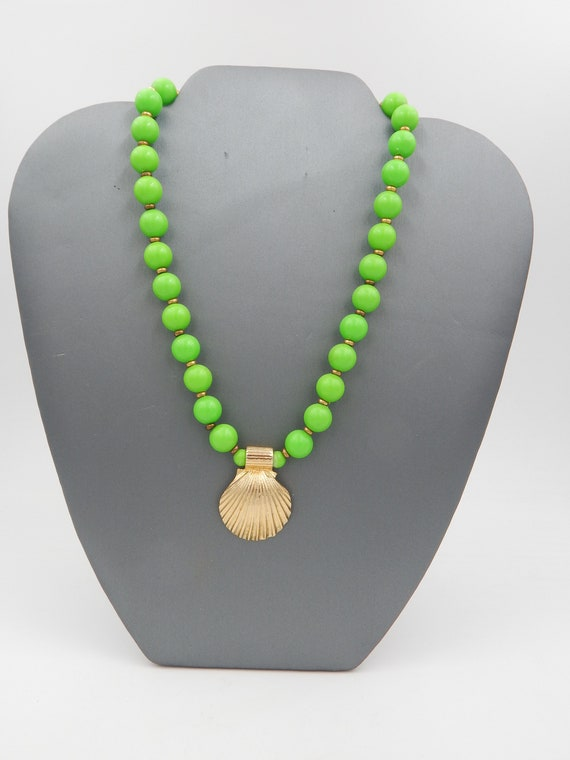 Lady of the Wood ~ Spring Green Beaded Necklace