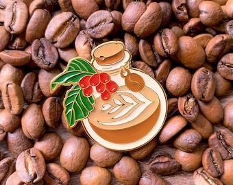 Latte Potion Pin - Enamel Pin, Lapel Pin, Fantasy Pin