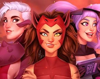 Super Pal Trio - She-Ra and the Princesses of Power - Art Print