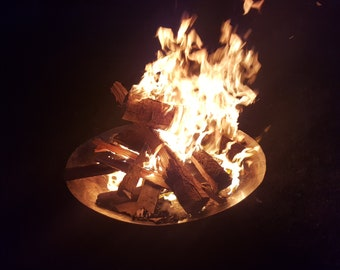 """Large fire bowl - Garden fire pit - Hand crafted steel dish - 30"""" - 25"""" - 20"""" - Camp fire - Forest school - Off grid - 100% recycled"""
