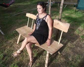Solid Oak bench - Traditional spindle-back - no nails, no screws - mortice & tenon