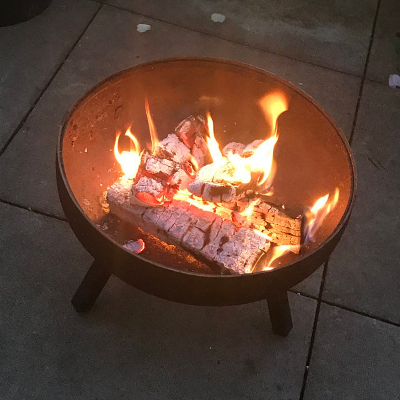 Fire bowl  Heavy duty steel circular 100% recycled image 1