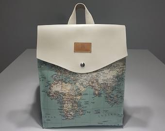 World map bag etsy fabiola world map backpack beige fabiola ricci gumiabroncs Images