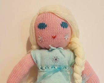 Wool doll frozen - Elsa