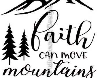 faith can move etsy Faith Baseball faith can move mountains svg