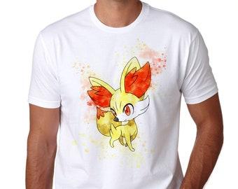 b49f10cc Fennekin T-Shirt, Personalized Fennekin Tee, Game tshirt, Unisex Anime Tee,  Great Gamer Gift Idea T653