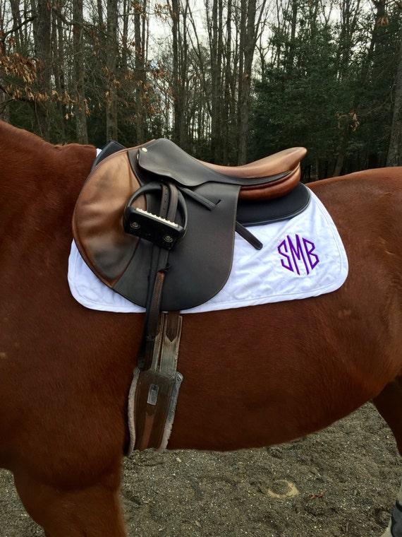 Custom Monogrammed Horse Saddle Baby Pad