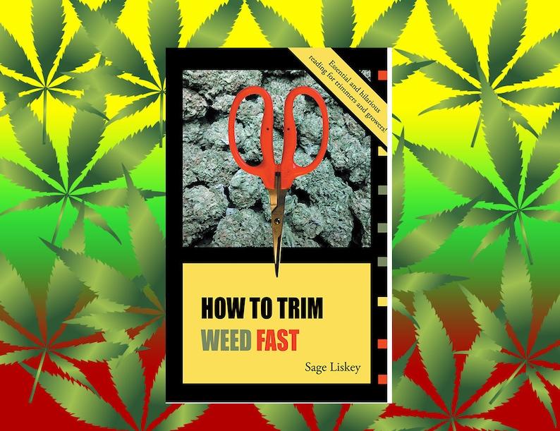Marijuana Trimming Guide  stoner gifts for stoner 420 bong image 0