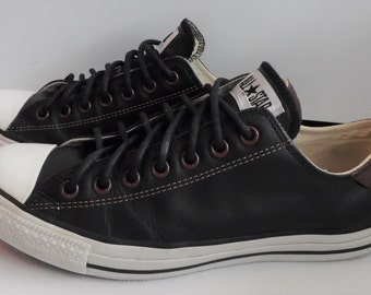 137fc60bc4c0 Premium Leather Low Top Converse All Star Shoes
