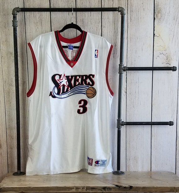 promo code ad95a 969b6 Vintage Allen Iverson Stitched Jersey By Champion