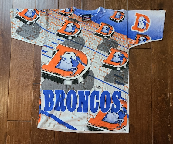 1995 Double Sided Denver Broncos Magic Johnson Tee