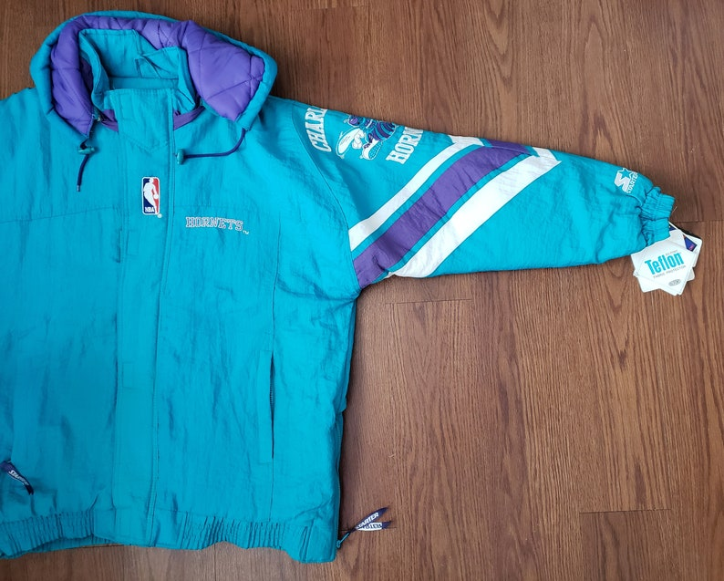 53736c9a09a NWT Vintage Charlotte Hornets Starter Puffer Jacket