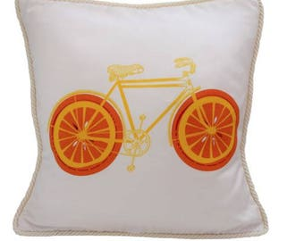 Blood Orange Bicycle Pillow