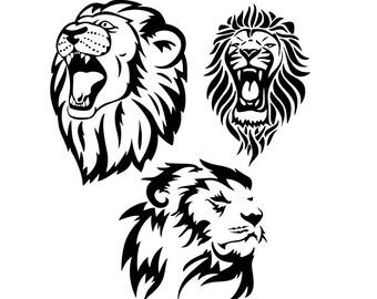 Roaring Lion Svg Etsy
