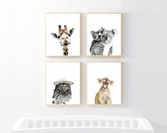 Kinderzimmer Kunst, Kunstdruck Set, Kinderzimmer, Baby Animal Print, Baby Tier  Kinderzimmer Kunst, Animal Prints Für Kinderzimmer, Wald Kinderzimmer, ...