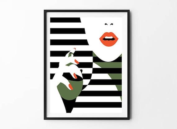 Coco Chanel Poster Makeup Decor Fashion Wall Art Dorm Etsy
