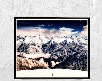 mountain print, mountains print, printable art, mountain art, minimalist print, mountain photography, nature print, landscape print