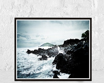 wave print, ocean waves print, ocean print, printable art, waves print, ocean wall art, wave art, ocean photography, sea print, beach decor