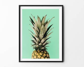 Pineapple Poster, Pineapple Photography, Pineapple Decor, Pineapple Wall Art, Pineapple Print, Pineapple Art, Pineapple Illustration