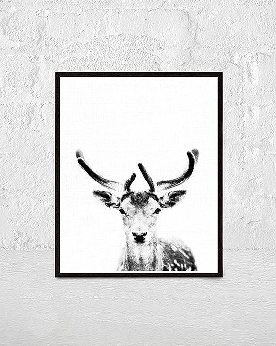 picture about Printable Deer Antlers titled Deer Print, Deer Antlers, Woodlands Decor, Wilderness Wall Artwork, Nursery Black and White, Animal Print, Printable Artwork, nursery animal artwork