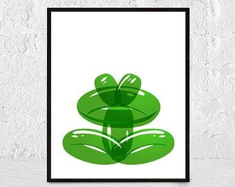 Toad Print, Cute Wall Art, Toad Nursery Art, Nursery frog, Toad Art, Toad Nursery Decor, animal print, nursery wall art, instant download
