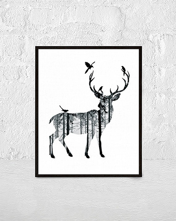 photo about Printable Deer Antlers called Deer Print, Deer Antlers, Woodlands Decor, Wilderness Wall Artwork,Nursery Animal Print, Deer Thoughts, Printable Artwork Obtain, nursery animal artwork