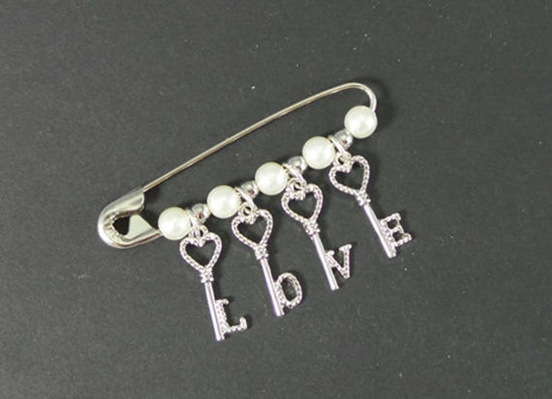 Safety Pin Jewelry//Safety Pin Brooch//Solidarity Safety Pin//Love is the  Key Safety Pin//Beaded Safety Pin//Womens Movement//Resist