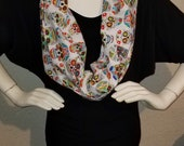 Sugar skulls cotton infinity scarf