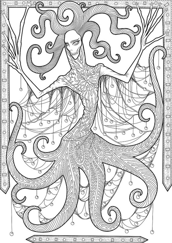 - Instant Download Digital Coloring Pages Complicated Coloring Etsy