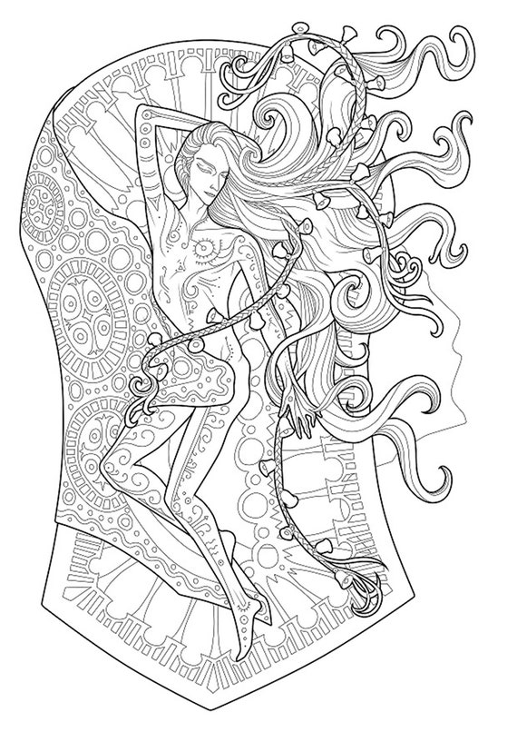 - Instant Download Long Hair Digital Coloring Pages Etsy