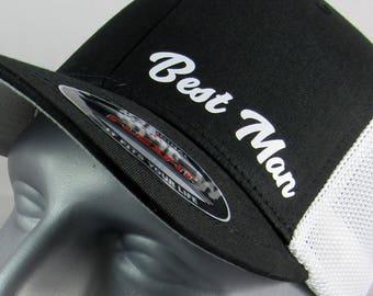 Best Man custom flex-fit trucker hat, wedding cap, bachelor party hats, wedding party caps, groom, groomsmen,groomsman