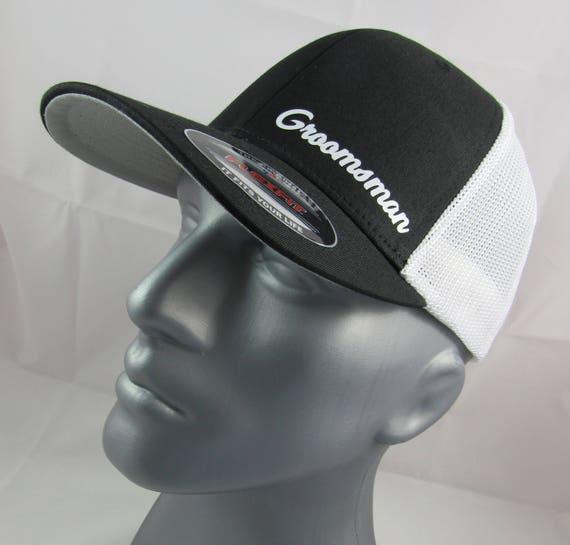 Groomsman custom flex-fit trucker hat wedding cap bachelor  f531be8fdae
