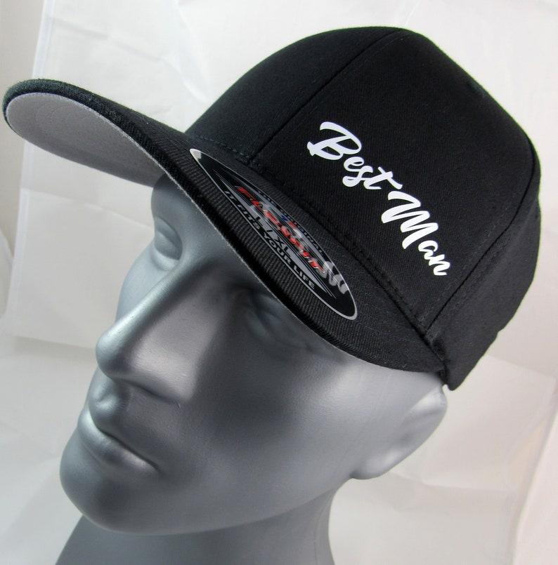 Best Man Flex-Fit custom fitted hat, wedding cap, bachelor party hats,  wedding party caps, Groom, Groomsman, Groomsmen