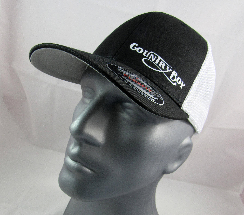 Country Boy custom flex-fit fitted trucker hat redneck cap  89a4ebfe040